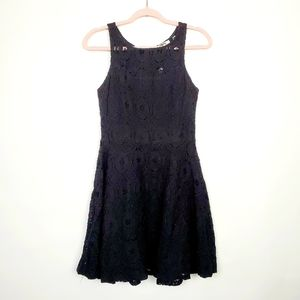 BB Dakota Black Lace Swing Dress Sleeveless